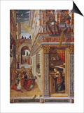 The Annunciation with St Emidius  1486