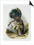 Pehriska-Ruhpa  Minatarre Warrior in the Costume of the Dog Dance