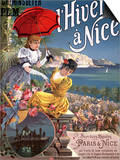 Winter in Nice  Poster Advertising PLM Trains