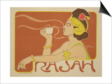 """Reproduction of a Poster Advertising the """"Cafe Rajah """" 1897"""