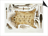 """Indian Utensils and Arms  Plate 21 from Volume 2 of """"Travels in the Interior of North America"""""""