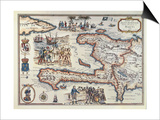 Map of the Island of Haiti  1789