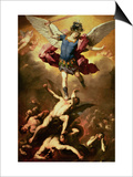 Archangel Michael Overthrows the Rebel Angel  circa 1660-65