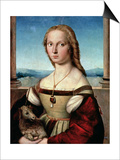 Portrait of a Young Woman with a Unicorn  circa 1505-6