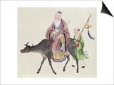 Lao-Tzu on His Buffalo  Followed by a Disciple