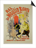 "Reproduction of a Poster Advertising the ""Bal Au Moulin Rouge "" 1889"