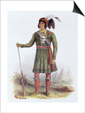 Osceola or Rising Sun  a Seminole Leader  Illustration from the Indian Tribes of North America