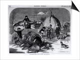 "Thanksgiving Day: Ways and Means  from ""Harper's Weekly "" 27th November 1858"