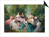 Portrait of Empress Eugenie Surrounded by Her Maids of Honor  1855