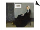Arrangement in Grey and Black No1: Portrait of the Artist's Mother  c1871