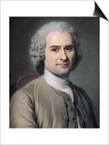 Portrait of Jean Jacques Rousseau (1712-78)