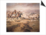 Attack on the Wagon Train  1904