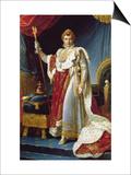 Napoleon I in His Coronation Robe  circa 1804