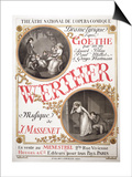 """Poster for """"Werther"""" by Jules Massenet at the Theatre National De L'Opera-Comique  Paris  1893"""