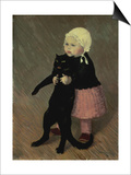 A Small Girl with a Cat  1889