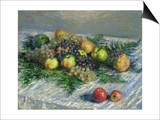 Still Life with Pears and Grapes  1880