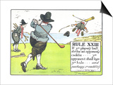 Rule XIII: If Ye Player's Ball Strike an Opponent's Caddie