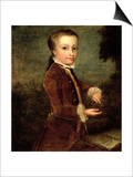 Portrait of Wolfgang Amadeus Mozart (1756-91) Aged Eight  Holding a Bird's Nest  1764-65