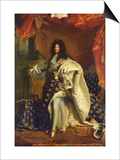 Louis XIV (1638-1715) in Royal Costume  1701