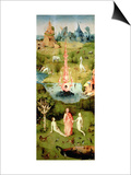 The Garden of Earthly Delights: the Garden of Eden  Left Wing of Triptych  circa 1500