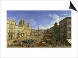 View of the Piazza Navona  Rome