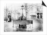 Vespasienne (Public Urinal) on the Grands Boulevards  Paris  C1900 (B/W Photo)