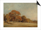 An Autumnal Landscape at East Bergholt  c1805-08