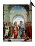 Aristotle and Plato: Detail from the School of Athens in the Stanza Della Segnatura  1510-11