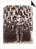 Isambard Kingdom Brunel  Standing in Front of the Launching Chains of the 'Great Eastern'  1857