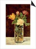 Roses and Tulips in a Vase  1883