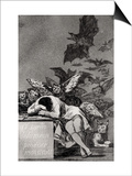 """The Sleep of Reason Produces Monsters  from """"Los Caprichos"""""""