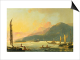 Tahitian War Galleys in Matavai Bay  Tahiti  1766
