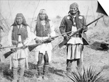 Geronimo and Three of His Apache Warriors  1886