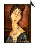 Jeanne Hebuterne with a Necklace  1917