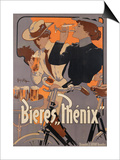Poster Advertising Phenix Beer  C1899 (Colour Litho)
