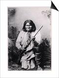 Geronimo Holding a Rifle  1884