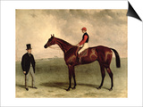 Gladiateur with Harry Grimshaw Up and His Owner  Count Frederic De Lagrange  1865