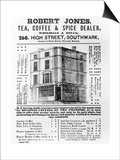 Advertisement for Robert Jones  Tea  Coffee and Spice Dealer  January 1845 (Litho)