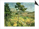 Landscape with Viaduct: Montagne Sainte-Victoire  c1885-87