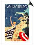 Deutschland: an Der Ostsee  C1930 (Colour Lithograph