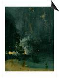 The Falling Rocket  1875 (Oil on Panel)