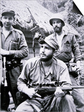 Fidel Castro in the Sierra Maestra Mountains  1957