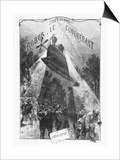 """Frontispiece of """"Robur Le Conquerant"""" by Jules Verne Paris  Hetzel  1886"""