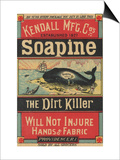Poster Advertising Kendall Mfg Co's 'soapine'  C1890