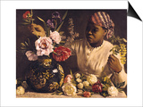 Negress with Peonies  1870