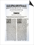 Extract of the Hippocratic Oath in Latin and Greek  1588 (Vellum)