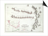 The Battle of Trafalgar  21st October 1805  the British Breaking the French and Spanish Line