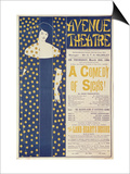 Poster Advertising A Comedy of Sighs  a Play by John Todhunter  1894