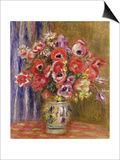 Vase of Tulips and Anemones  circa 1895