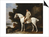 A Gentleman on a Grey Horse in a Rocky Wooded Landscape  1781